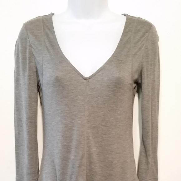 BCBGMaxAzria Dresses & Skirts - BCBG MAXAZRIA Gray Jersey Dress Pockets XXS NWOT